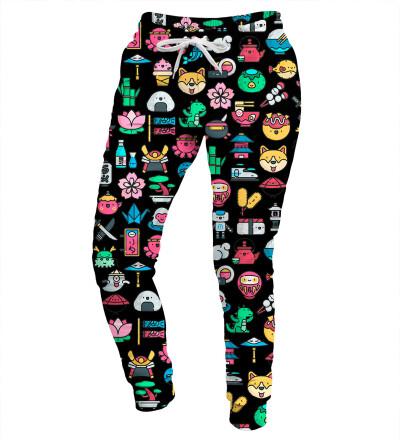 Spodnie damskie - Japanese Pattern