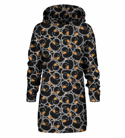 Sukienka oversize z kapturem Black Rubber Duck