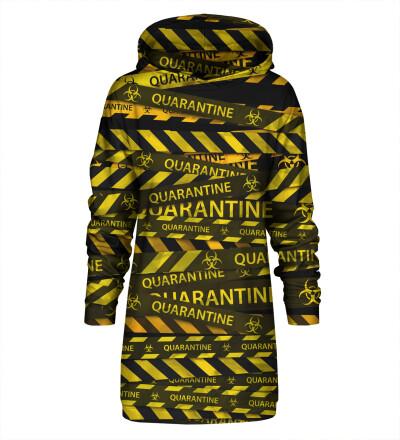Sukienka dresowa z kapturem Black Quarantine