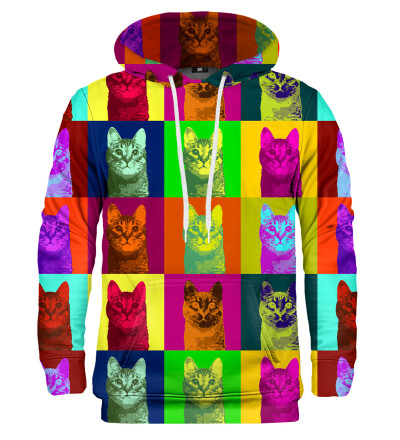 Bluza z kapturem Warhol Cat