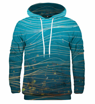 Bluza z kapturem Turquoise Wave