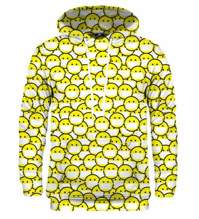 Bluza z kapturem Covid emoji