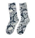 Skull flower Midi Socks