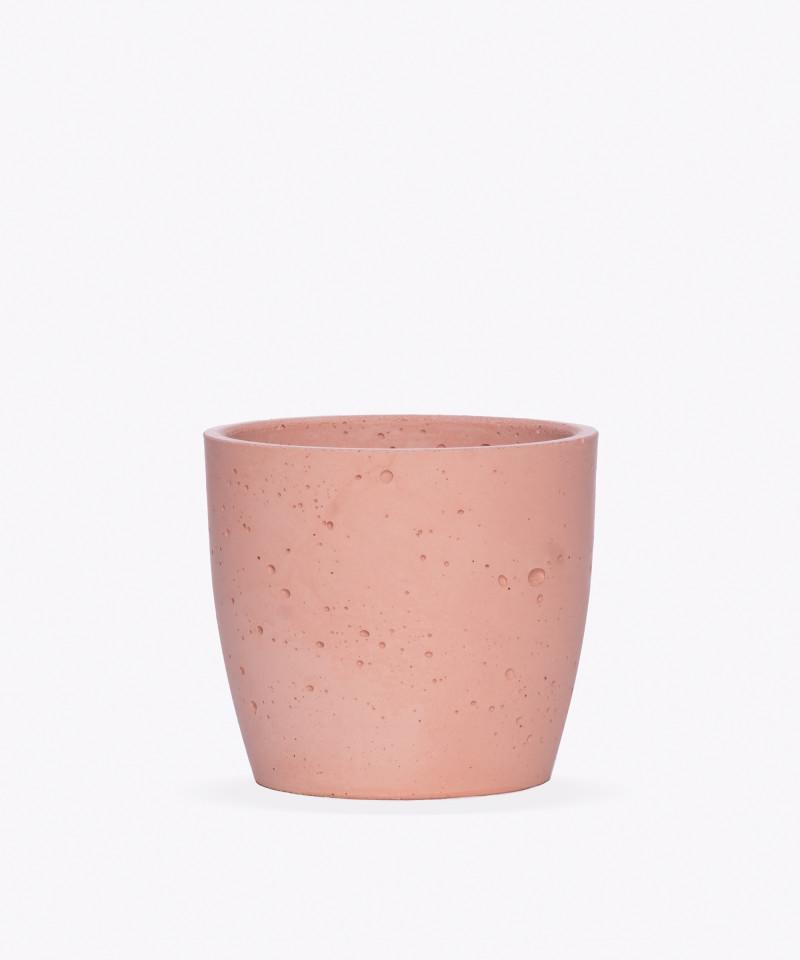 Doniczka Betonowa w kolorze różowym