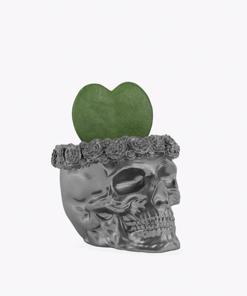 Hoja Kerri w stalowej betonowej czaszce flower