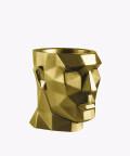 Doniczka Apollo, złota osłonka betonowa ⌀ 14 cm