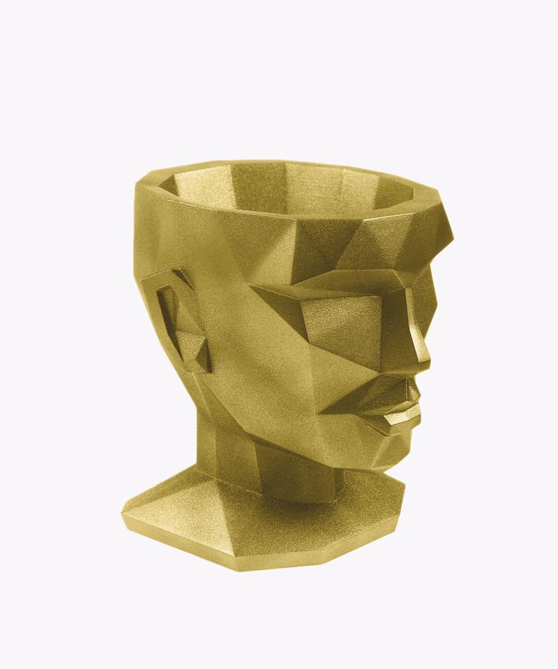 Doniczka Afrodyta złota osłonka betonowa