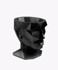 Doniczka Afrodyta, czarna osłonka betonowa ⌀ 13,5 cm