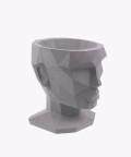 Doniczka Afrodyta, szara osłonka betonowa ⌀ 13,5 cm
