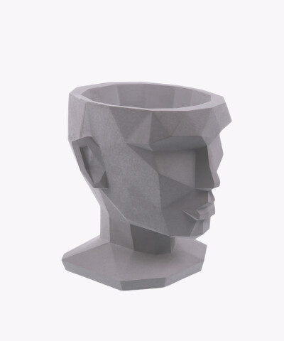 Doniczka Afrodyta szara osłonka betonowa