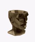 Doniczka Afrodyta, miedziana osłonka betonowa ⌀ 13,5 cm