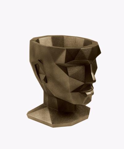 Doniczka Afrodyta miedziana osłonka betonowa ⌀ 13,5 cm
