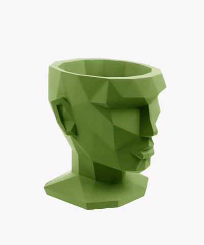 Doniczka Afrodyta zielona osłonka betonowa ⌀ 13,5 cm
