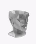 Doniczka Afrodyta, silver osłonka betonowa ⌀ 13,5 cm