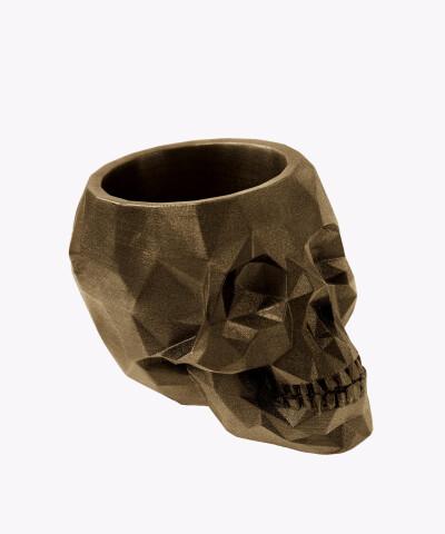 Doniczka czaszka miedziana osłonka betonowa ⌀ 24 cm