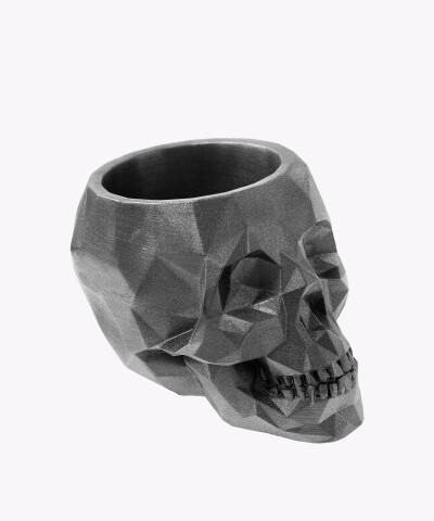 Doniczka czaszka steel osłonka betonowa ⌀ 24 cm