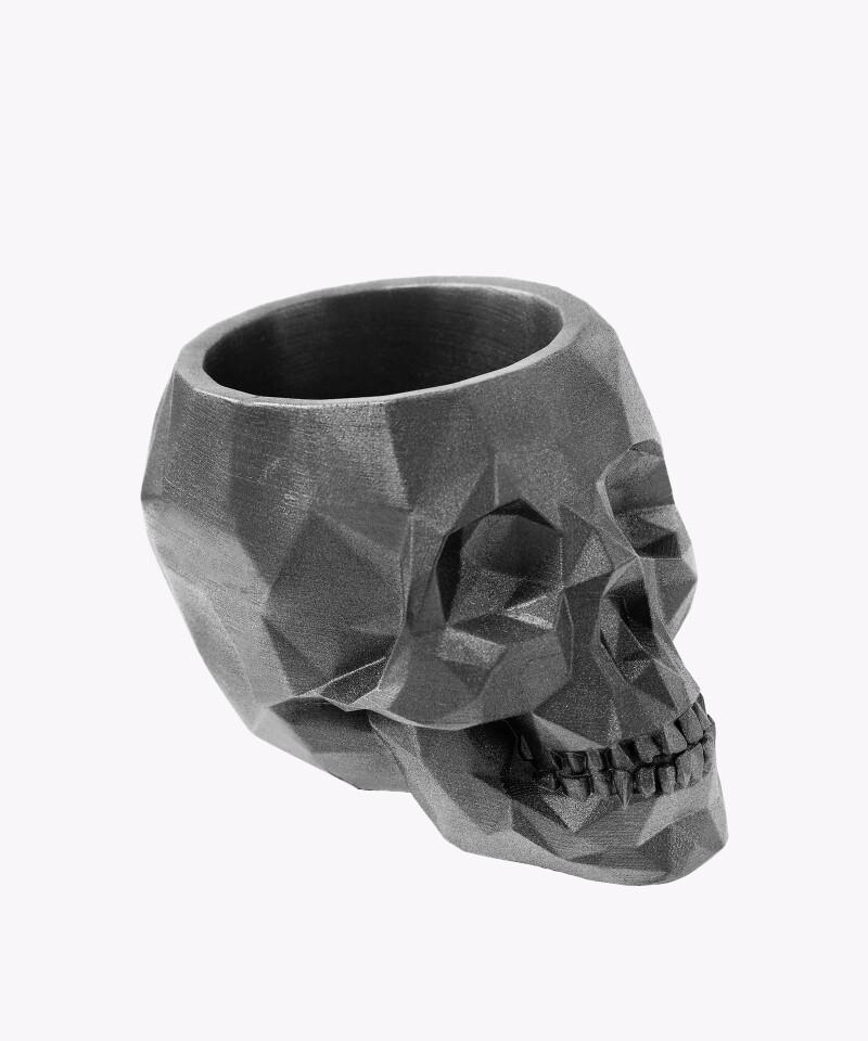 Doniczka czaszka steel osłonka betonowa ⌀ 11 cm
