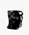Doniczka Apollo, czarna osłonka betonowa ⌀ 12 cm
