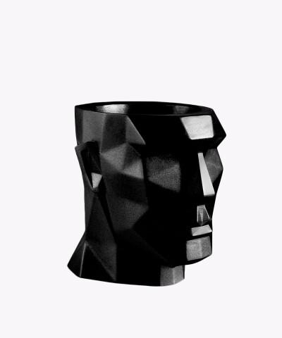 Doniczka Apollo czarna osłonka betonowa ⌀ 12 cm