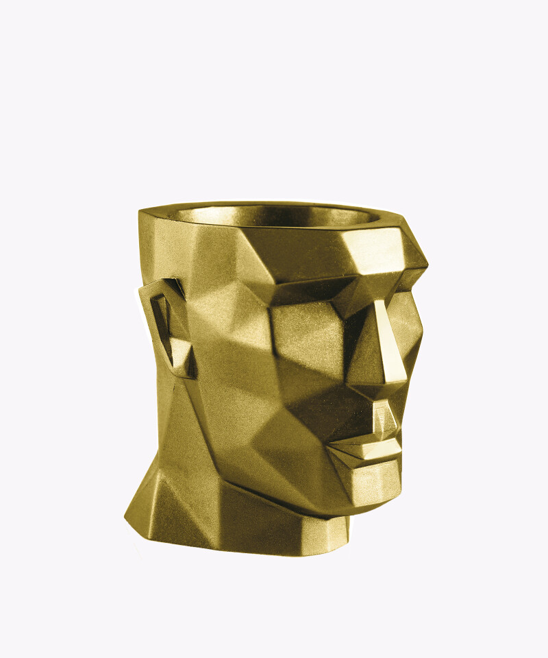 Doniczka Apollo złota osłonka betonowa ⌀ 12 cm