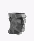 Doniczka Apollo, szara osłonka betonowa ⌀ 12 cm