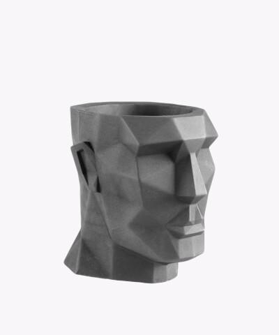 Doniczka Apollo szara osłonka betonowa ⌀ 12 cm