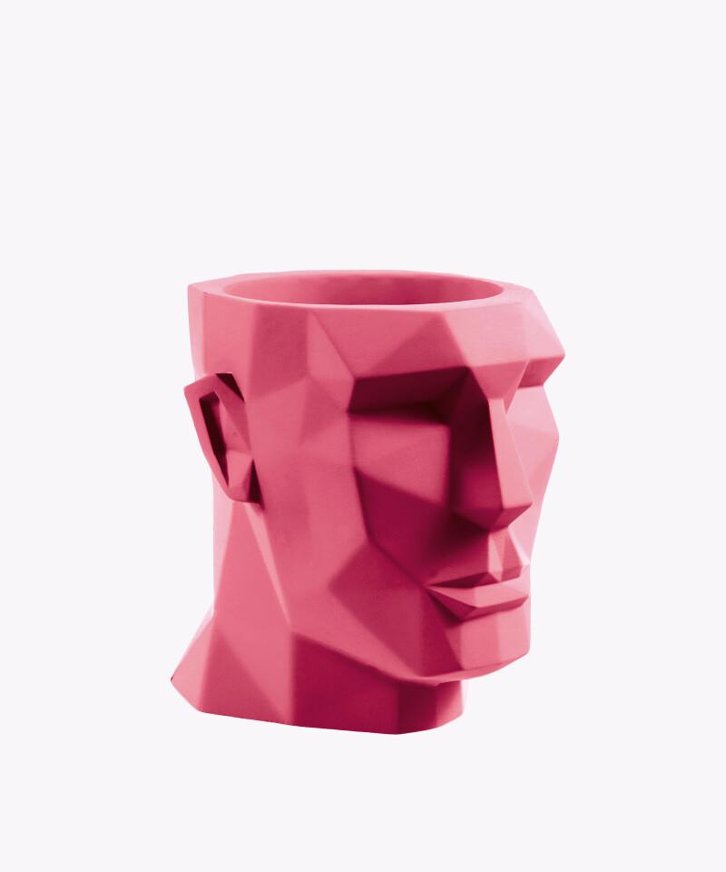 Doniczka Apollo - Różowa z Betonu - ⌀ 12 cm