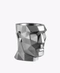 Doniczka Apollo, silver osłonka betonowa ⌀ 12 cm