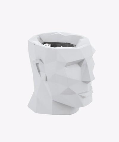 biała świeca z wymiennym wkładem LIZZIO