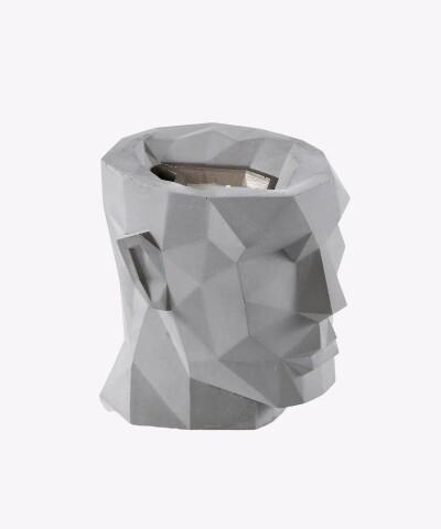 Szary świecznik betonowy - Apollo XL