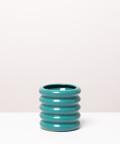 Doniczka ceramiczna, w kolorze turkusowym ⌀ 10 cm