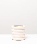 Doniczka ceramiczna, w kolorze kremowym ⌀ 10 cm