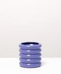 Doniczka ceramiczna, w kolorze fioletowym ⌀ 10 cm