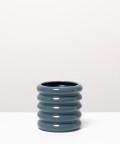 Doniczka ceramiczna, w kolorze szarym ⌀ 10 cm