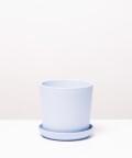 Doniczka ceramiczna z podstawką, w kolorze lazurowym ⌀ 13 cm