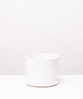 Doniczka ceramiczna, w kolorze waniliowym ⌀ 15 cm