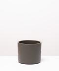Doniczka ceramiczna, w kolorze khaki ⌀ 15 cm