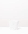 Doniczka Betonowa Hex, w kolorze białym  ⌀ 12 cm
