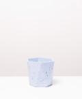 Doniczka Betonowa Hex, w kolorze niebieskim ⌀ 12 cm