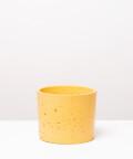 Doniczka Betonowa Walec, w kolorze żółtym ⌀ 15 cm
