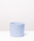 Doniczka Betonowa Walec, w kolorze niebieskim ⌀ 15 cm