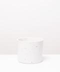 Doniczka Betonowa Walec, w kolorze białym ⌀ 11 cm