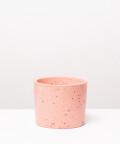 Doniczka Betonowa Walec, w kolorze różowym ⌀ 15 cm