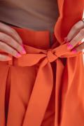 LIAM ORANGE, High-waisted orange shorts