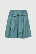 LIAM, High-waisted blue shorts