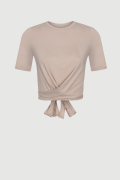 FORSETI BEIGE, beżowy T-shirt