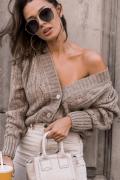LORA BEIGE, beżowy sweter