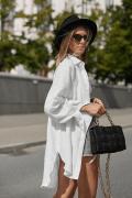 FARO WHITE, koszula oversize