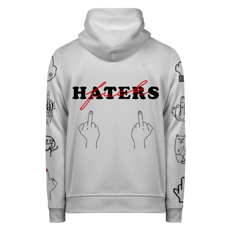 FUCK HATERS Hoodie Zip Up