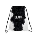 BLACK SMOKE Drawstring bag